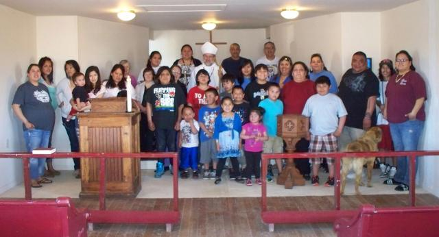 One was baptized and four confirmed last week at St. James's, Bear Creek, South Dakota, on the Cheyenne River Indian Reservation. (The Rev. Margaret Watson)