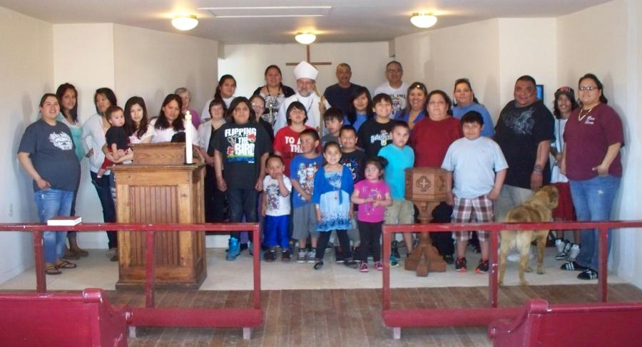 St. James's, Bear Creek, South Dakota, on the Cheyenne River Indian Reservation: Americans have a right to live, to be proud of their culture, and a right to basic human dignity. (The Rev. Margaret Watson)