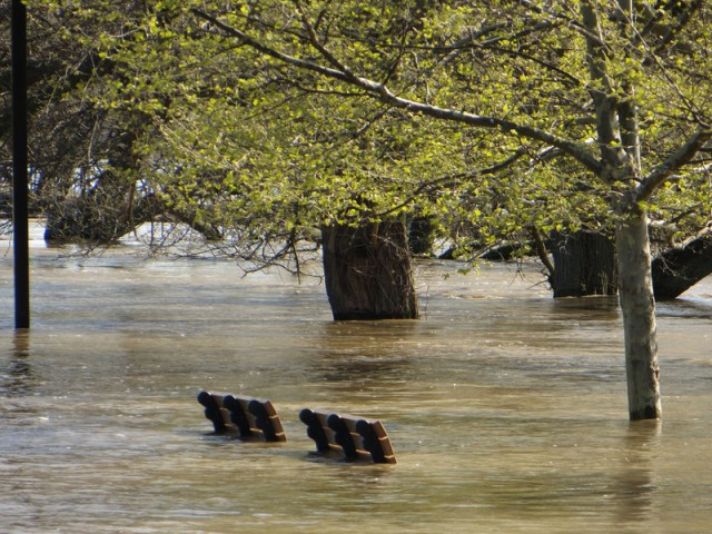 The Wabash River at Terre Haute, Indiana last week.