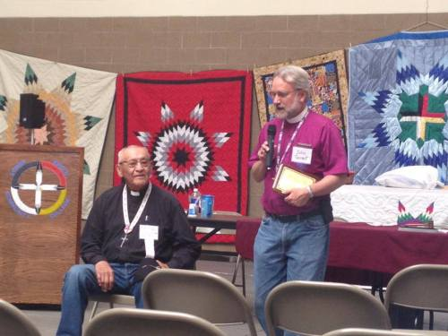 Last week the 141st Niobrara Conference of the Lakota peoples of South Dakota, USA, honored Fr. Webster Two Hawk of St. Elizabeth School in Wakpala on his 56 years of ministry. Excellent blankets, too! (Episcopal News Service)