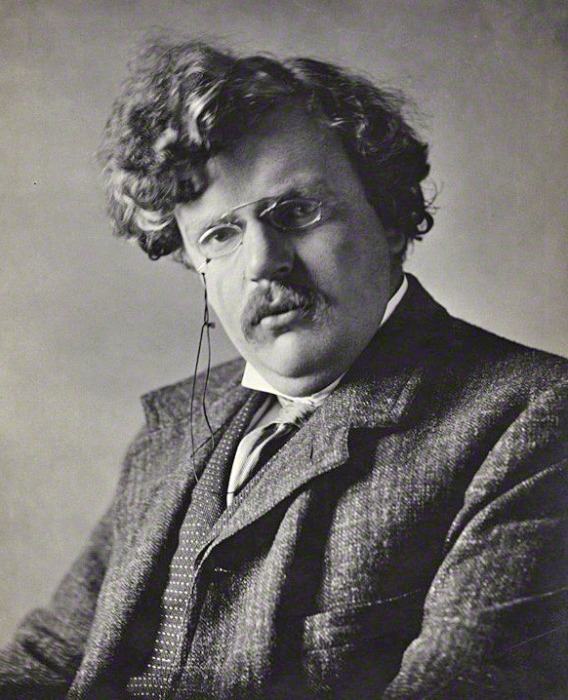 Chesterton is known and loved for his sharp wit, intellectual tenacity, and refusal to resolve the ambiguities of Christian faith in favor of facile and transient conceptions of truth.  He was a major influence on C.S. Lewis. (Ernest Herbert Mills, 1909/National Portrait Gallery)