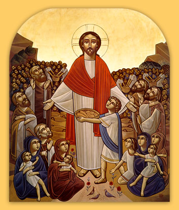 Coptic: Christ Feeding the Multitude