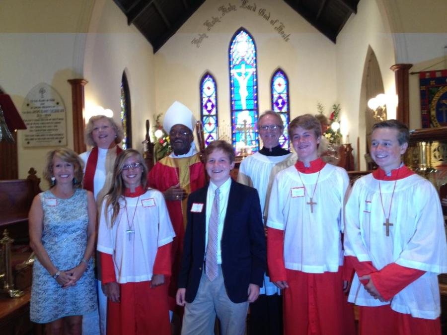 Confirmations with Bishop Michael Curry at St. Luke's & Calvary Church, Tarboro, North Carolina. Bishops, eh, they come and go - but I have a terrible soft spot for acolytes. (Diocese of North Carolina)