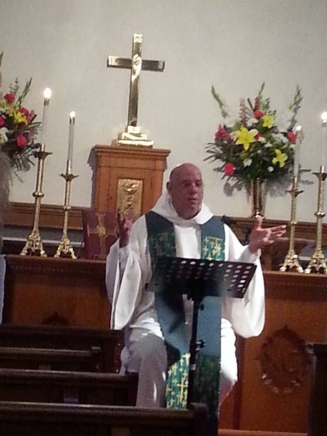 In almost 9 years of our websites, we have never once featured someone preaching. Episcopalians hear good sermons, but they're not the most important thing that happens on Sunday. Gabri Ferrer gave the Word at Christ Church, Redondo Beach, California July 14, someone took a picture, so here's to the preachers! At last. (via Fr. Robert Cornner)
