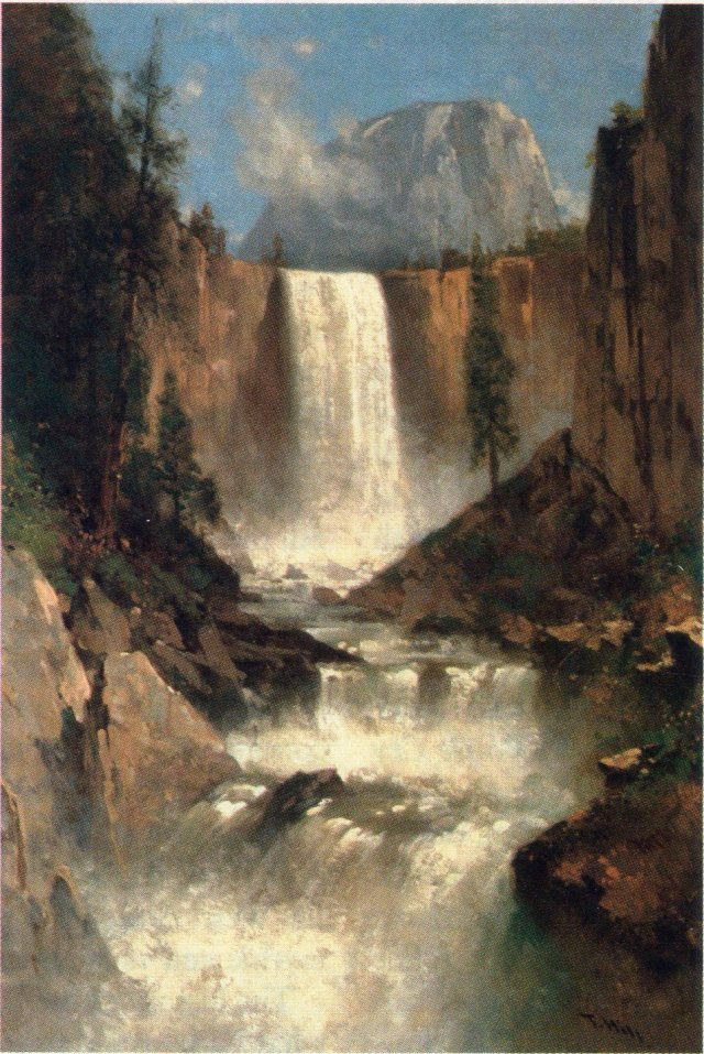 Thomas Hill, 1889: Vernal Falls, Yosemite - the water just keeps falling down.