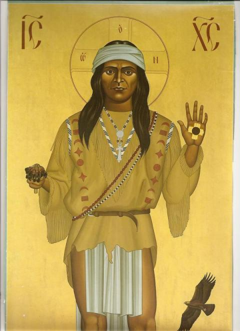 Native American Christ; artist unknown