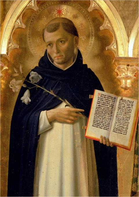 Fra Angelico, 1437, the Perugia Altarpiece: St. Dominic. His Order of Preachers made intellect the key to the understanding of God, and teaching a central feature of every sermon.