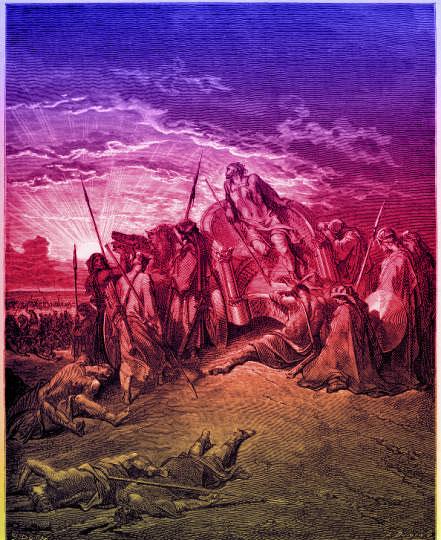 The death of Ahab. (kingjamesbibleonline)