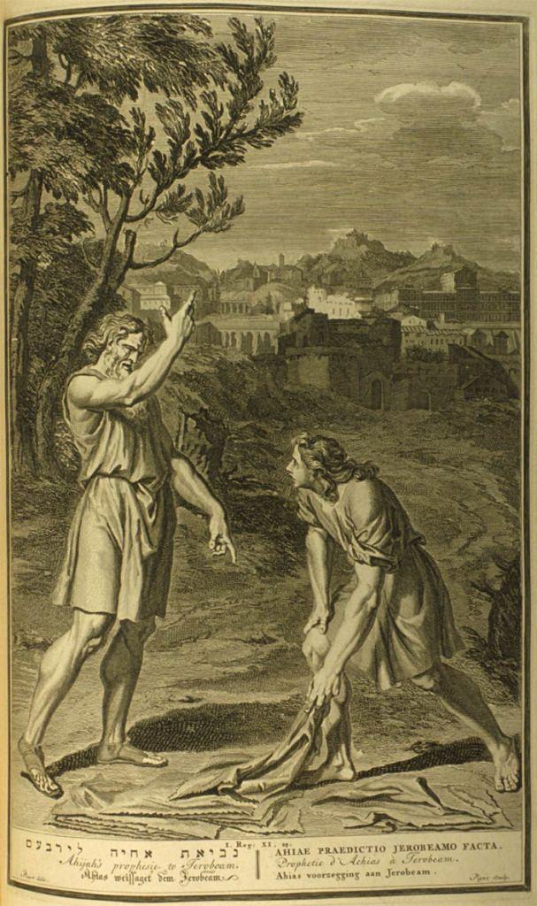 Gerard Hoet, 1728: Ahijah's Prophecy to Jeroboam