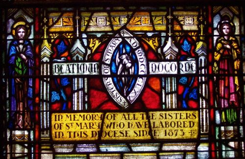 A window at St. Mary's Cathedral, Memphis, Tennessee commemorates Constance and all other members of the Community of St. Mary, which has served the cathedral parish for 140 years. Their heroic service during the yellow fever epidemic of 1878 is only one example. (Gary Bridgman/Wikipedia)