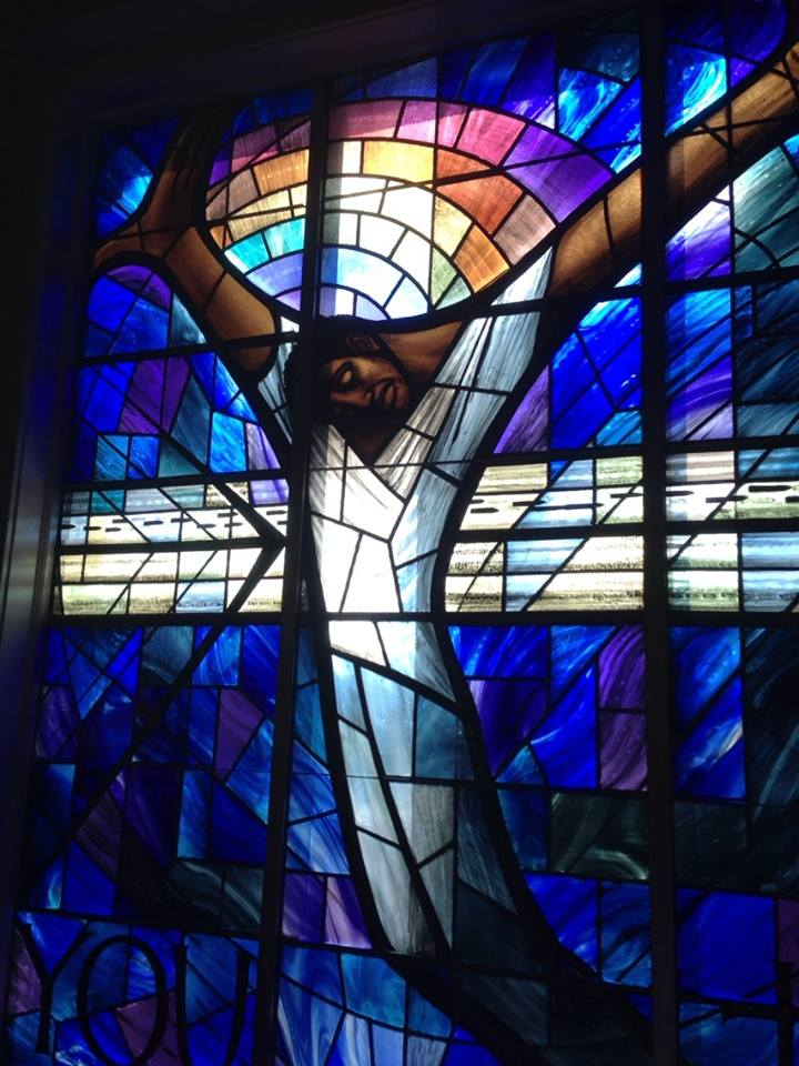 John Petts: Black Christ Crucified, at 16th Street Baptist Church, Birmingham, Alabama. It was a gift from the people of Wales after the 1963 civil rights bombing of the church, which killed four girls and wounded others. (The Rev. Malcolm Marler)