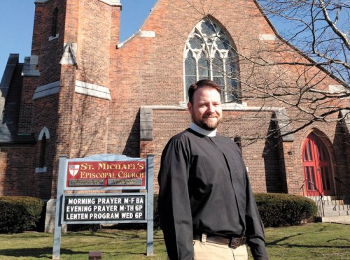 The Rev. Eric Thompson, a former U.S. Army chaplain in Afghanistan, is now the rector of St. Michael's, Geneseo, New York – where they say the Daily Office almost every day. (Mark Gillespie/Livingston County News)