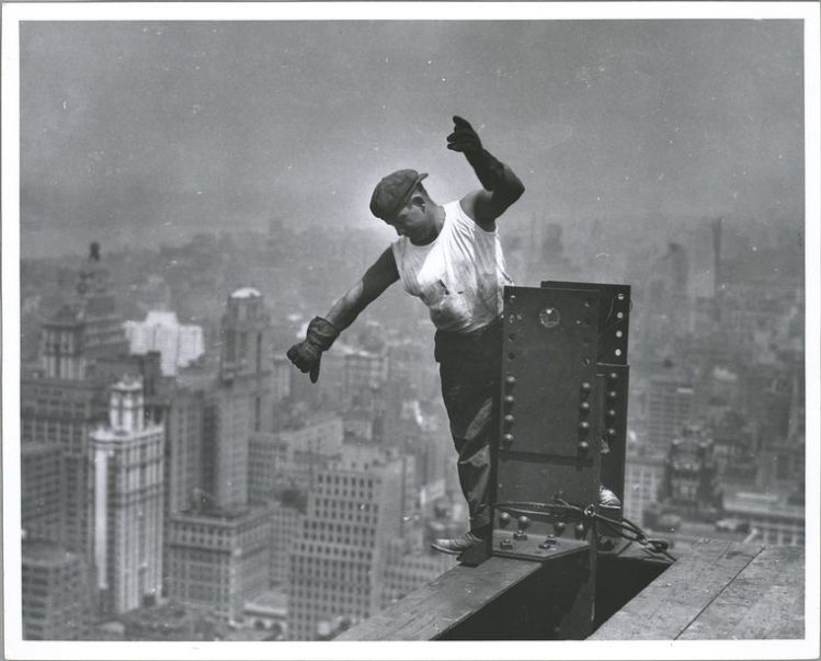 Iconic photo of the construction of the Empire State Building, New York City, 1931: everything we enjoy comes from someone's labor. (Lewis Wickes Hine/New York Public Library)