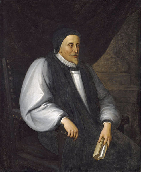 "Bishop Andrewes was a renowned scholar and preacher, a favorite of King James I/VI and the general editor of the Authorized or King James Bible. His ""Private Devotions"" express his deep faith; he was a vigorous defender of the catholicity of the Church of England. (artist unknown)"
