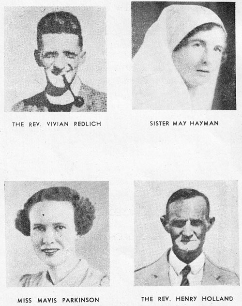 Four of the Anglican martyrs we commemorate today – Australian clergy, nurses, evangelists and teachers. They were among 333 church workers of a variety of denominations killed in New Guinea during World War II. (anglicanhistory.org) Four of the Anglican martyrs we commemorate today – clergy, nurses, evangelists and teachers. Theirs is a story of faith, courage and devotion, among both Papuans and foreigners. (anglicanhistory.org)
