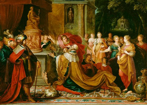 Franz Francken II, 1622: The Idolatry of Solomon (Getty Museum)