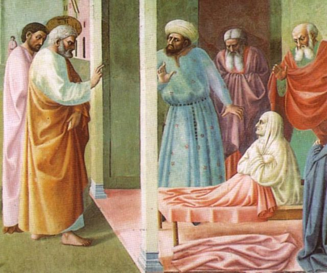 Masolino da Panicale, 1425: The Raising of Tabitha