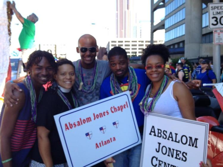 The Absalom Jones Student Center and Chapel serves several historically Black colleges and universities in Atlanta, Georgia, as well as community groups.  The Rev. Kimberly Jackson, second from left, is the chaplain. (Union of Black Episcopalians)