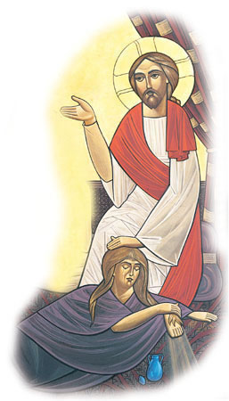 The sinful woman who anointed Jesus. (Coptic)