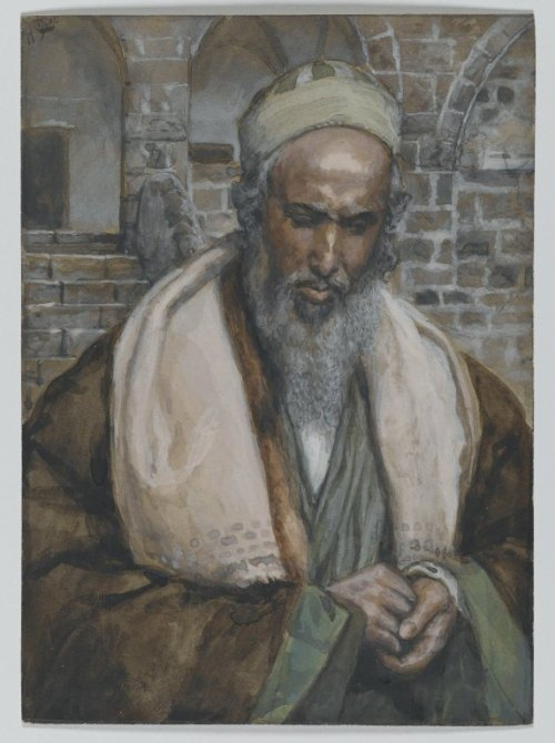 James Tissot: St. Luke. Scholars believe he did not meet Jesus himself, but was a disciple of St. Paul and a missionary. (Brooklyn Museum)