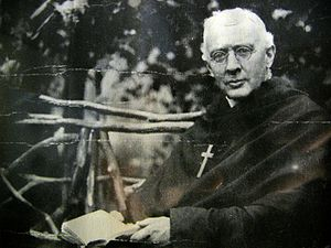 James Huntington was an American mission priest who received a call to the religious life during a church service in Philadelphia in 1883. He established the Order of the Holy Cross among poor immigrants in New York, and through many difficulties – including considerable opposition from evangelicals who denounced religious life as evil and corrupt – his little band of men survived to build the first Episcopal monastery for men on the Hudson River near Poughkeepsie, across from President Franklin Roosevelt's Hyde Park. (source unknown)