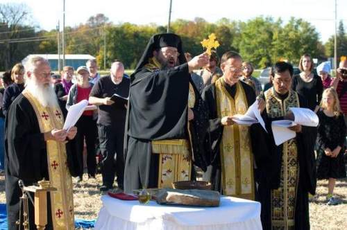 Breaking ground to build a new church: St. Alexis Orthodox, Lafayette, Indiana. (Tom Baugues/Journal and Courier)