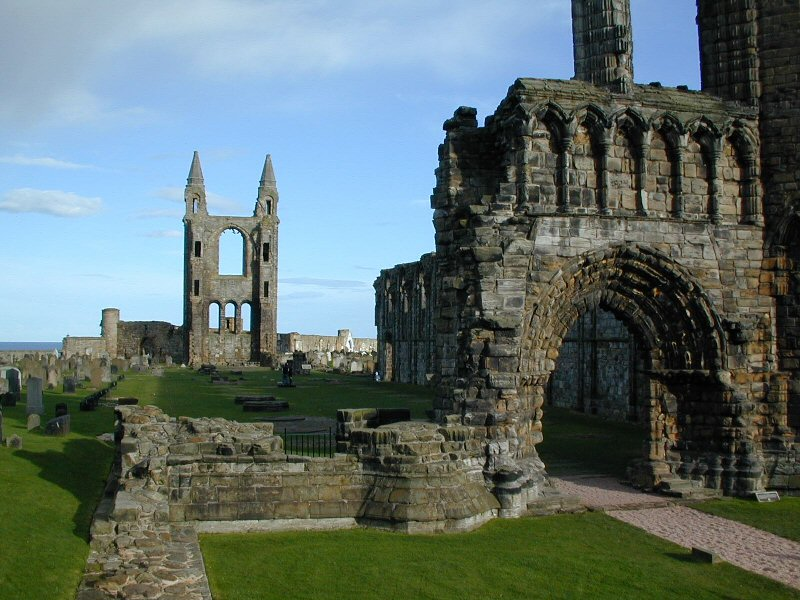 Ruins of St. Andrew's Cathedral, Fife, Scotland. (source unknown)