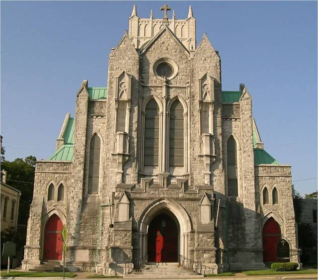 St. Mary's Cathedral, Memphis, Tennessee. It has helped the city respond to two major crises in its history; in addition to the yellow fever epidemic of 1878, in which Constance and other Sisters of Mary cared for the dying with such devotion, it was also the scene of a dramatic march after the assassination of Dr. Martin Luther King Jr. in 1968. Clergy from many churches and synagogues gathered there for an emergency meeting after which the Dean, William Dimmick, picked up the processional cross and led the way to City Hall to ask the mayor to settle the sanitation workers' strike which had brought King to the city. Dimmick's heroic leadership led to a backlash among his white parishioners; half of them left and never went back, but the church was better for it. (originalmemphis.org)