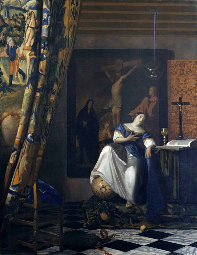 Johannes Vermeer, c. 1670-72: Allegory of the Catholic Faith (Metropolitan Museum of Art)