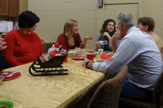 A Christmas party last Sunday at Chapel of the Good Shepherd, a campus ministry at Purdue University in West Lafayette, Indiana. Let's remember students, campus ministries and school chaplaincies in our prayers. (via Facebook)