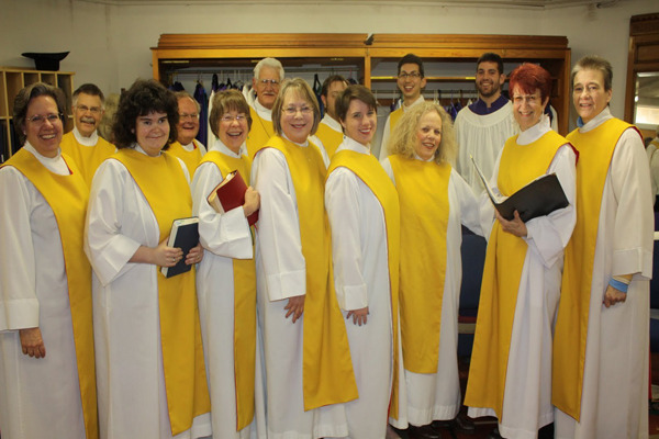 Choir at St. Matthew's Cathedral, Laramie, Wyoming. (parish website)