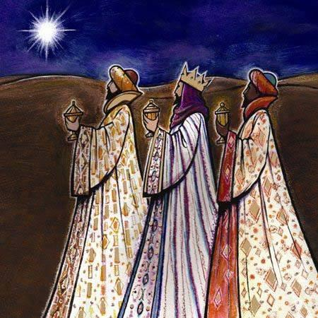 The three kings or wise men brought gold, representing wealth, power and royalty; frankincense, representing prayer and worship; and myrrh, representing both the oil of anointing and of embalming. (artist unknown)