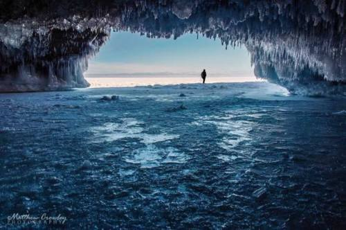 For joy in God's creation: ice caves a few days ago on Lake Superior in Michigan, USA. (Matthew Crawley via Fox 17)