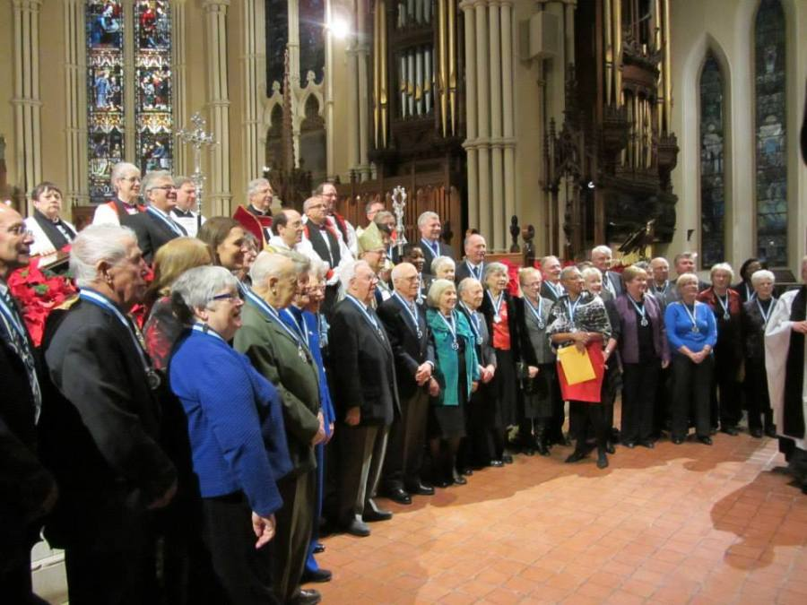 Dozens of laypeople were honored New Year's Day at a service at the Cathedral in Toronto, in an Anglican version of the Queen's Honors List. They received ribbons and medals on the nomination of the Archbishop and were made members of the Order of the Diocese of Toronto. (Ann Cope)