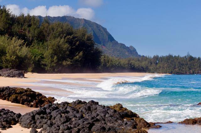 "For joy in God's creation: Lumaha'i Beach on the island of Kaua'i, Hawai'i. It was featured in the film version of Rodgers and Hammerstein's ""South Pacific."" (Suitcases and Sunglasses)"