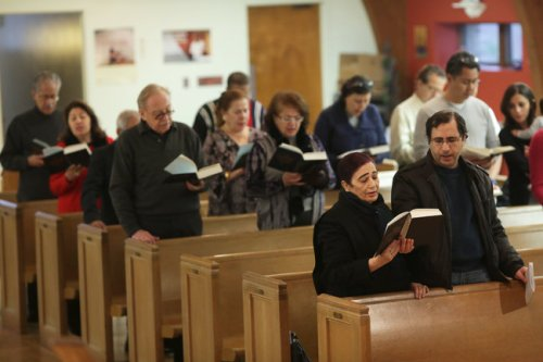 This is Salam Arabic Lutheran Church in Brooklyn, New York, a pan-Arab congregation that has found a home with a historic but dwindling group of Norwegian Lutherans – one more chapter in the religious history of a city of immigrants. (Michael Appleton/The New York Times)