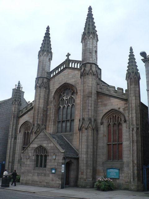 St. Andrew's Cathedral, Aberdeen, Scotland. Samuel Seabury, the first American bishop, was consecrated close by, but before this building was put up. (geograph.org.uk)