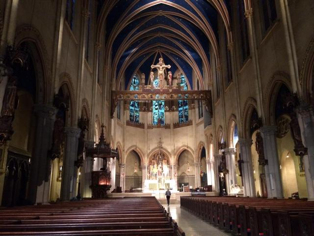 The famously high Church of St. Mary the Virgin, New York City, taken after the smoke had cleared. (The Rev. Richard Edward Helmer)