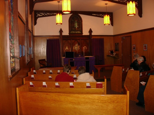 Chapel at St. Paul's Cathedral, Kamloops, British Columbia, mother church of the former Diocese of Cariboo, which went bankrupt and was abolished in 2001 after revelations of widespread abuse of children in Indian boarding schools. (Wikipedia)