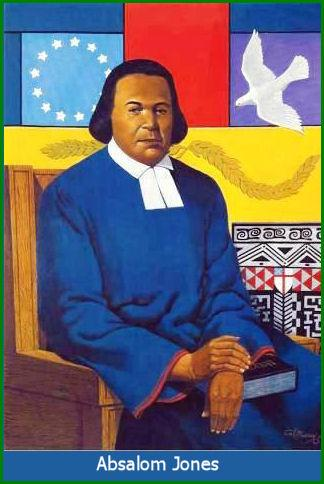 "Absalom Jones had to overcome one trial after another to get free and become a leader in the Lord's house. He was born into slavery – taught himself to read the Bible – saved a ""king's ransom"" to buy his way out of bondage, having already bought his wife's freedom first – traveled to Philadelphia and joined St. George's Methodist Church, where he was such a good evangelist, more Black folk started coming, so the Whites panicked, built a slaves' gallery and introduced segregation in the pews without telling anyone. Jones and his friend Richard Allen led a walkout and founded their own African Church. Once formed, they petitioned the Episcopal Diocese of Pennsylvania for admission, if the Bishop met certain conditions. Jones was soon ordained a deacon, but had to wait another 9 years to become a priest. But he did so, making history with every step he took. And the parish he founded, St. Thomas's African Episcopal Church, remains a pride and joy of that city and diocese today. (The Rev. Dr. Lynn A. Collins) #BlackHistoryMonth"