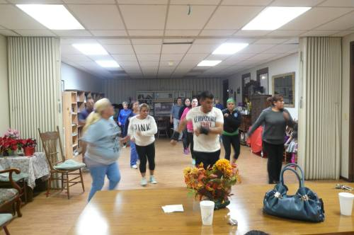 The combined parishes of All Saints' and Cristo Rey in Watsonville, California offer a 1-hour fitness class Tuesdays through Fridays at 6pm/18:00. Seems like a good idea, since church typically involves a lot of sitting! (The Rev. Michael Dresbach)