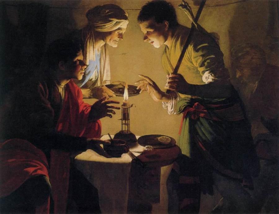 Hendrick ter Brugghen, c. 1627: Esau Selling His Birthright (Thyssen-Bornemiszen Museum, Madrid)