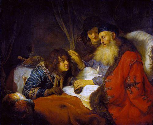 Govert Flinck, 1638: Isaac Blesses Jacob. (Rijksmuseum, Amsterdam)