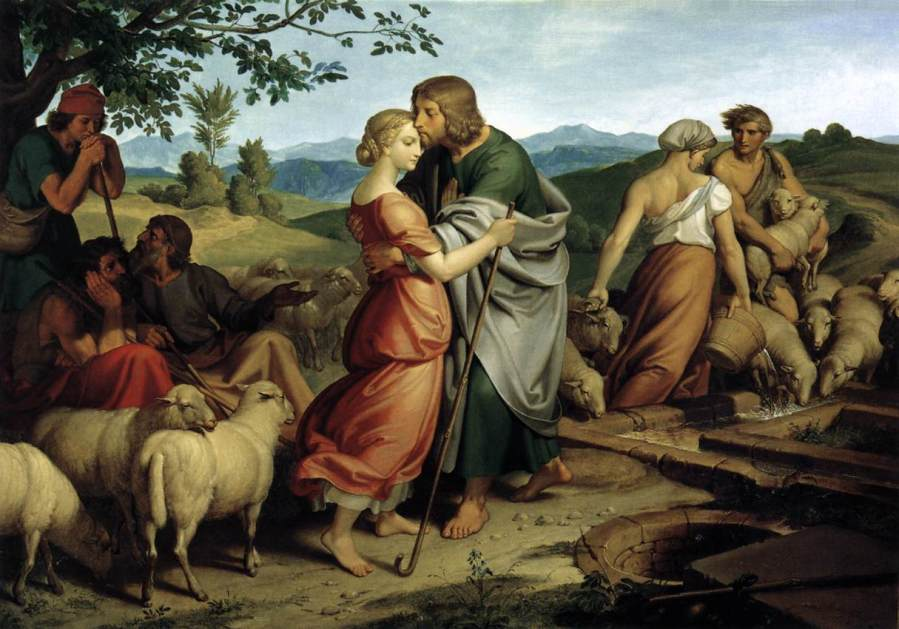 Joseph Von Führich (d.1876): Jacob Encountering Rachel with her Father's Herds