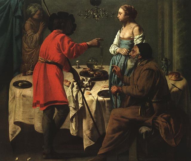Hendrick ter Bruggghen: Jacob Reproaching Laban (Wallraf-Richartz Museum, Cologne)