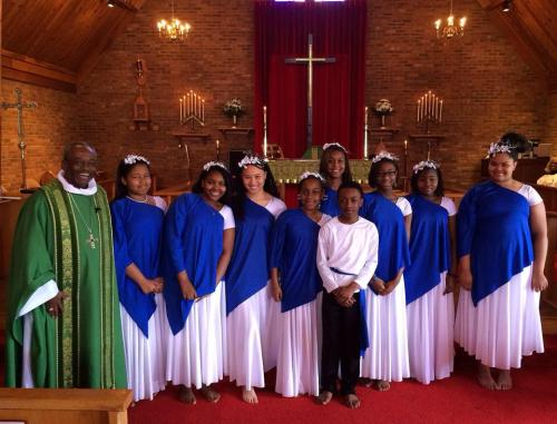 If we seem to feature North Carolina Bishop Michael Curry a lot, it's because he's the best at social media. Last Sunday he visited the Church of the Redeemer in Greensboro and enjoyed their young liturgical dancers. We think today's saints, both African-American teachers, would also approve. (DioNC via Facebook)