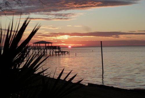 Mobile Bay, Alabama, at sundown last month. (Roy Hoffman)