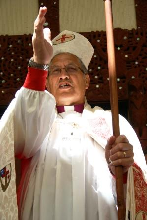 Ngtarahu Katene, Bishop of Te Manawa O Te Wheke, Aotearoa. There are about 75,000 Maori Anglicans, who have their own Archbishop and hierarchy, one of three streams or traditions within the Anglican Church in New Zealand.  (Ngira Simmonds, Wikipedia)