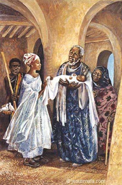 Bénédite de la Roncière: Presentation of Christ (Jesus MAFA)