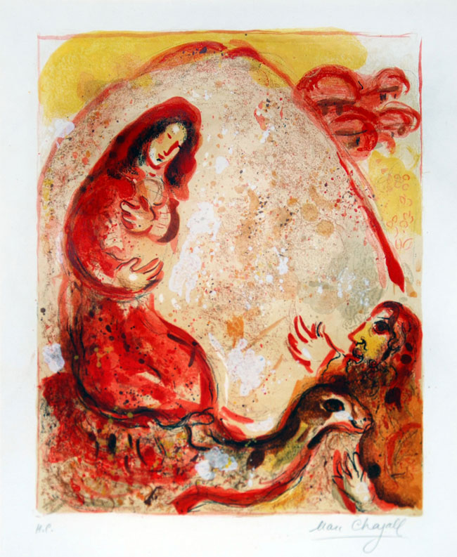 Marc Chagall, 1956: Rachel Hides Her Father's Household Gods
